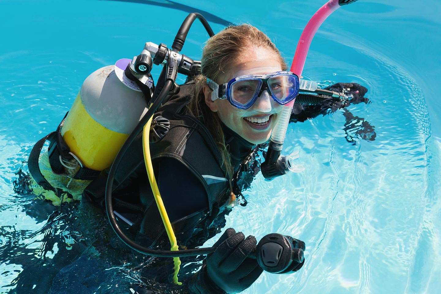 woman in scuba gear